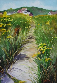 Dune Path- Watercolor by Cape Ann Artist Kate Somers