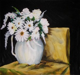 Flower Vase - water color painting by Cape Ann artist Kate Somers
