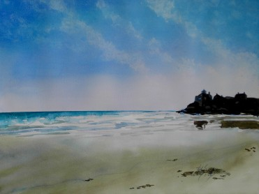 Good Harbor Beach- Watercolor Painting by Cape Ann Artist Kate Somers