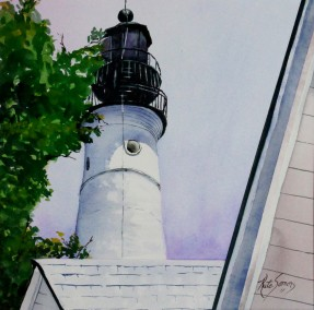Hemingways Light- Watercolor Painting by Cape Ann Artist Kate Somers