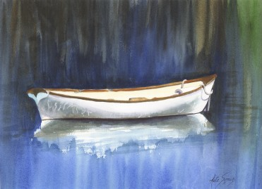 The Lifeboat- Watercolor Painting by Cape Ann Artist Kate Somers